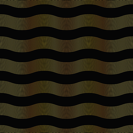 vector illustration of seamless golden pattern in art deco style