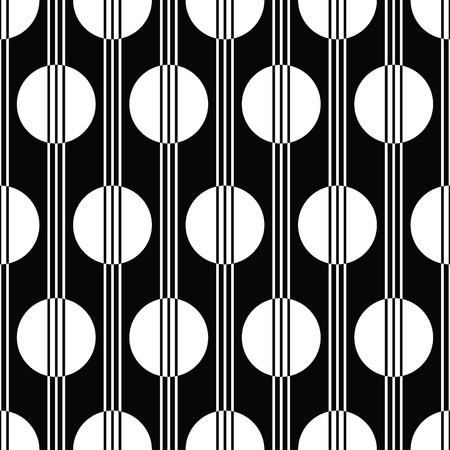 vector illustratie van naadloze zwart-wit patroon in art deco-stijl