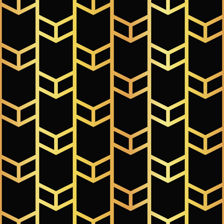 vector illustration of golden seamless pattern in artdeco style Ilustracja