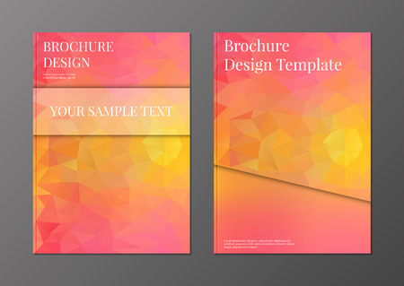 Vector set of brochure or flyer cover design template in polygonal style Vector