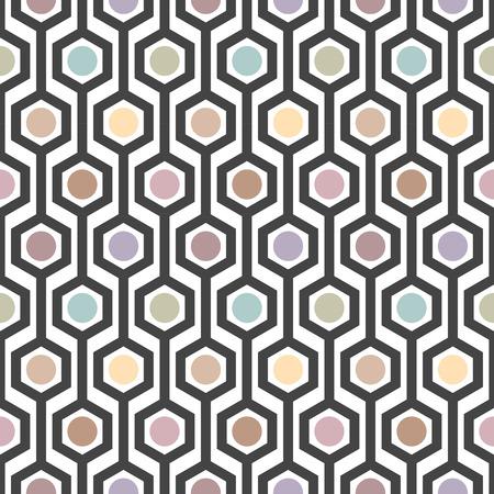 vector illustratie van naadloze zeshoek patroon in art deco-stijl
