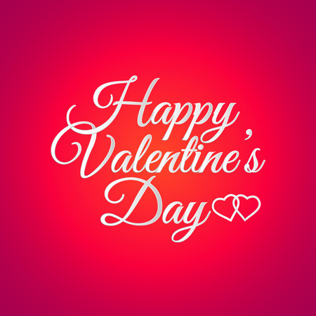 st valentine's day: Vector illustration of  St. Valentines Day greeting  card with 3d lettering