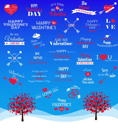 vector illustration of Valentines Day greetring card Vector