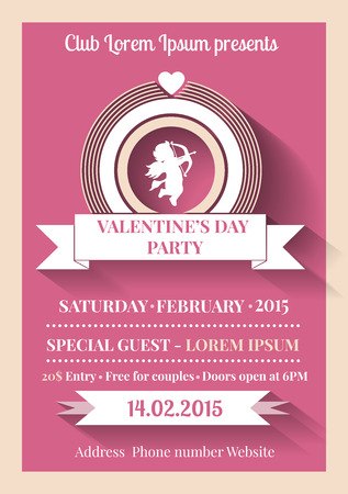 unusual valentine: vector illustration of Valentines Day greetring card or invitation
