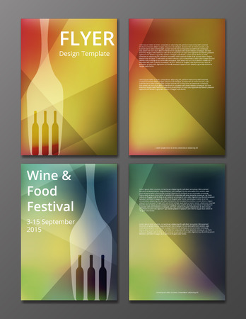 vector illustration of wine flyer or brochure cover  イラスト・ベクター素材