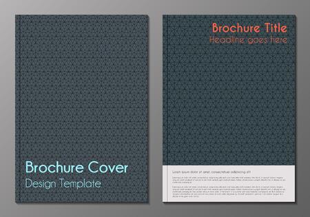 Vector illustratie van brochure, boekje, jaarverslag of flyer dekt ontwerpsjablonen met minimalistische veelhoekige achtergronden