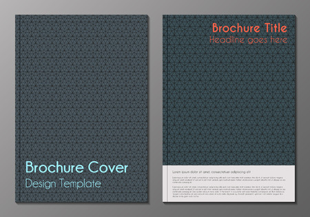 Vector illustration of brochure, booklet, annual report or flyer covers design templates with minimalistic polygonal backgrounds