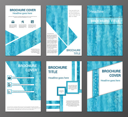 Vector set of abstract  brochure, flyer, booklet design templates in polygonal style Vector