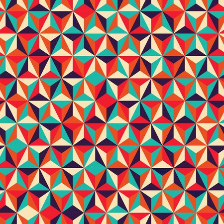 Vector illustratie van abstracte driehoekige geometrische naadloze patroon