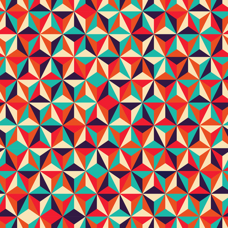 Vector illustration of abstract triangular geometric seamless pattern