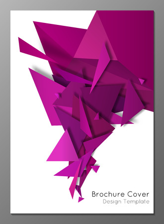 Vector illustration of abstract geometric brochure cover design template
