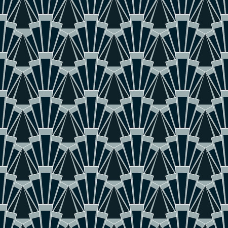 illustration of seamless patterns in art deco vintage style Stock Illustratie