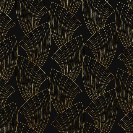 illustratie van naadloze patronen in art deco vintage stijl Stock Illustratie