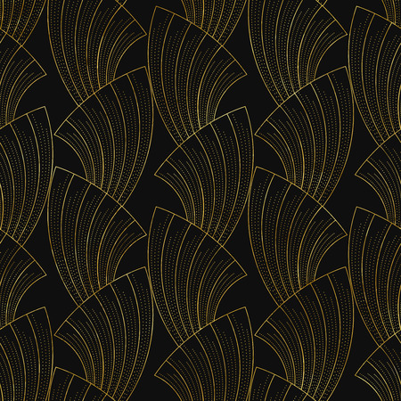 illustration of seamless patterns in art deco vintage style Vettoriali