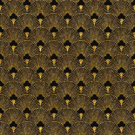 Ilustracji wektorowych bez szwu deseń w stylu art deco. Złoty błyszczące tekstury.