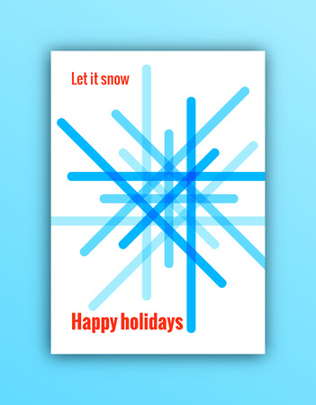Merry Christmas greeting card. Trendy minimal design for posters, flyers, prints, invitations. EPS 10.