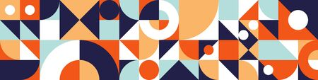 Geometry minimalistic banner. Abstract pattern background in Swiss style.