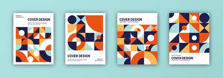 Set of cover templates. Abstract geometric shapes composition. 일러스트