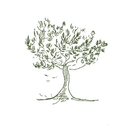 Handdrawn tree in vector Stock Illustratie