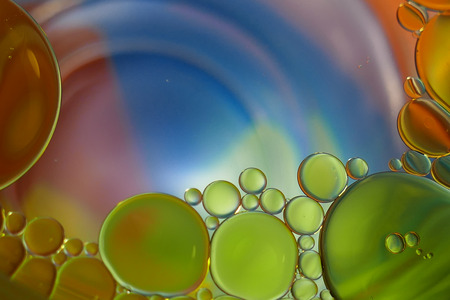 Colorful water with oil Imagens