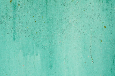 Blue and turquoise background of painted iron.