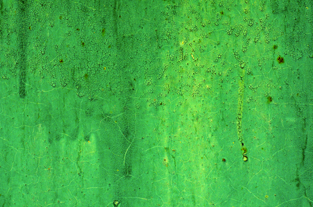 Texture of vintage painted green iron wall background with many layers of paint Stock Photo