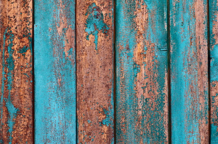 Wooden texture of weathered painted boards Stock Photo