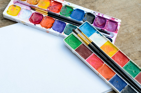 Water color paint box for drawing
