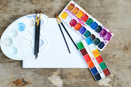 Water color paint box for creative drawing