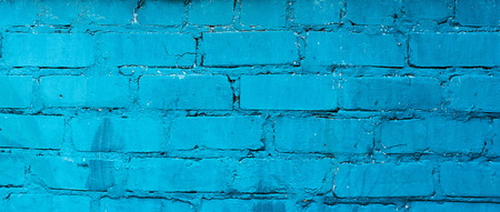 Texture of old blue brick wall surface with cement seams Banco de Imagens