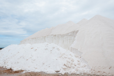 sel: Saltworks Es Trenc in Mallorca, Spain