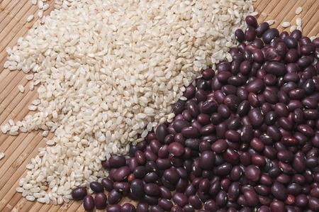 arroz: El arroz integral y frijoles rojos