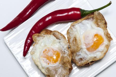 wachteleier: Quail eggs canape