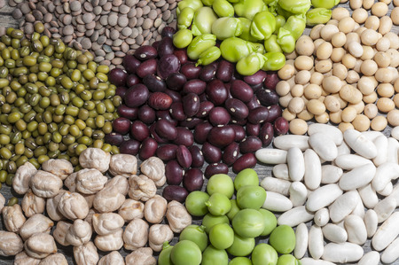 legumes: Lots of different legumes Stock Photo