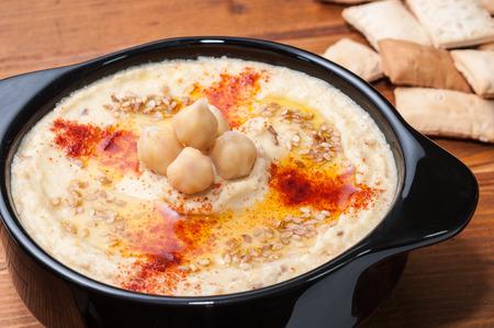 hummus: Plate of hummus Stock Photo