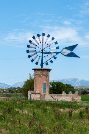 typical: Typical windmill in Majorca