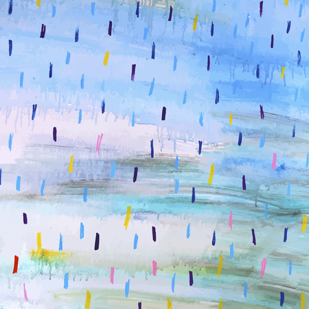 Colorful vector watercolor raindrops