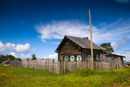 Old russian wooden house (izba)