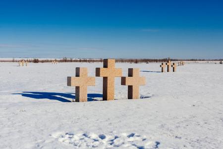 stele: German military memorial graveyard near Volgograd city