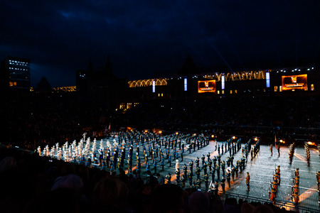 spasskaya: MOSCOW, RUSSIA - AUGUST 26, 2016: Spasskaya Tower international military music festival Editorial