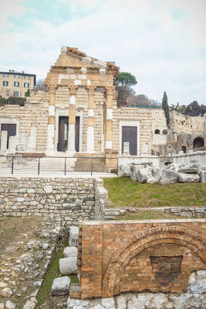 The Capitolium or the Temple of the Capitoline Triad in Brescia was the main temple in the center of the Roman town Brixia. It is represented at present by fragmentary ruins with a Roman amphitheatre