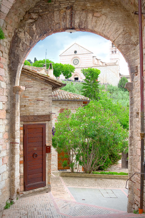 st  francis: Alley in Assisi, the city of St. Francis, patron saint of Italy