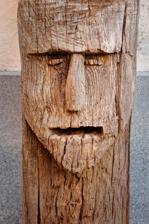 mouth to mouth: Face carved in the trunk of a tree representation of elemental creature