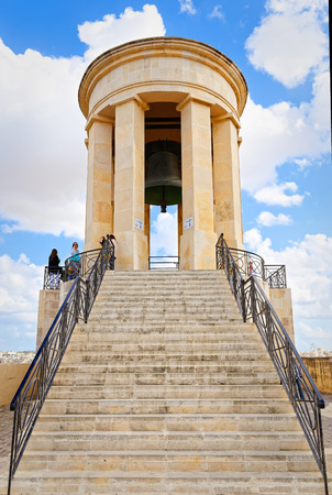 Monument siege of Malta, the memorial bell Stock Photo