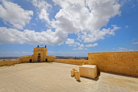 dominant: Wide angle view of the Citadel Square, Victoria, Gozo