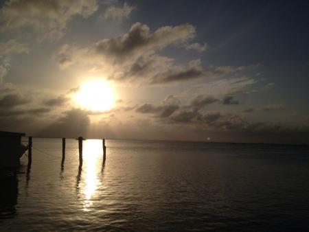 Cancuns Sunset lagoon view