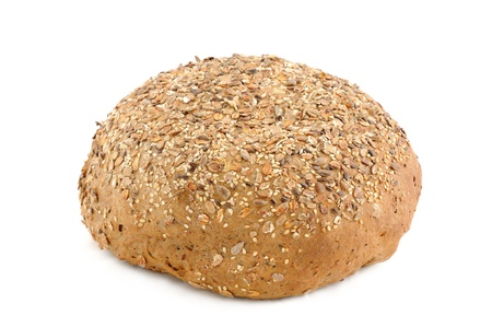 fresh, round wholemeal bread Stock Photo