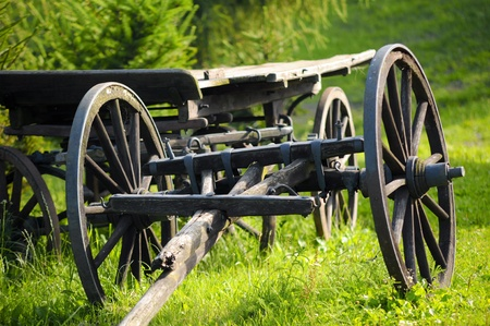old horse cart Stock Photo