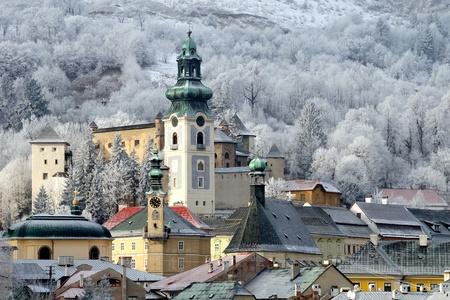 slovakia: Banska Stiavnica, Slovacchia Archivio Fotografico