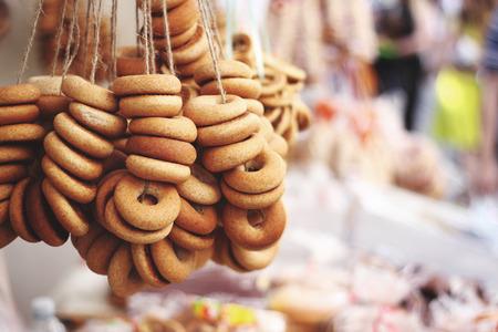 baranka: Appetizing russian donut (baranka).